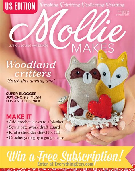 Subscription Giveaway - mollie makes magazine subscription giveaway