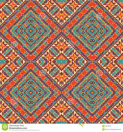 navajo pattern vector free seamless colorful navajo pattern stock vector