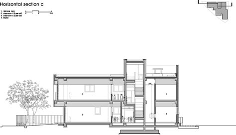 horizontal c section the dodam nursery school d 183 lim architects archdaily