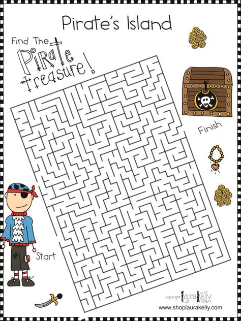printable pirate maze 9 best images about pirate ideas for dance on pinterest