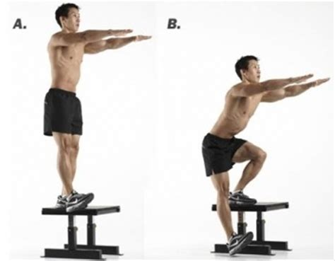 one leg squat on bench single leg drop down squats from bench maintain a level