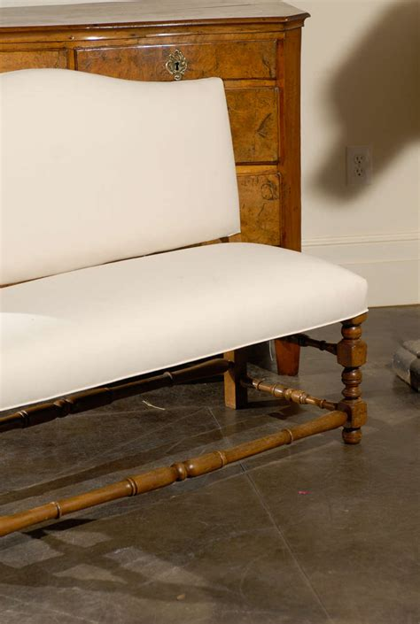 upholstered benches with backs french upholstered bench with back at 1stdibs