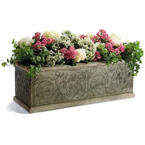 rectangular outdoor planters best 25 rectangular planters ideas on