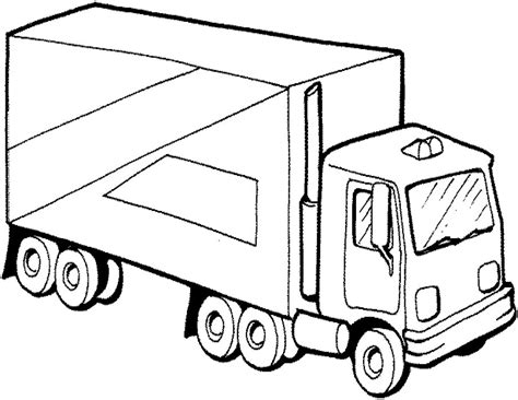 Semi Truck Coloring Page Az Coloring Pages Truck Color Pages