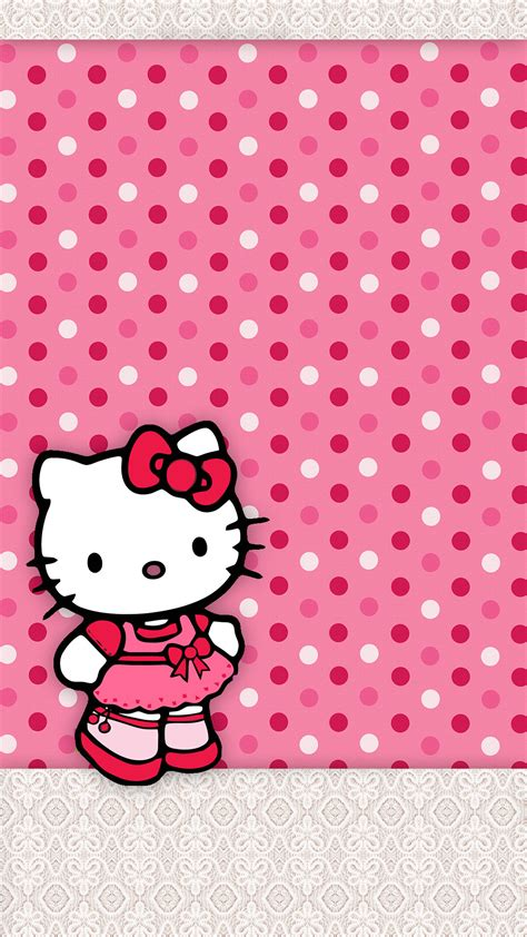 wallpaper hello kitty pink hitam hello kitty pink wallpaper 60 pictures