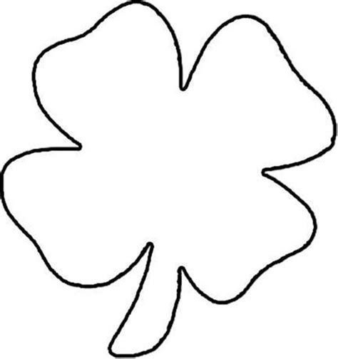coloring pages of four leaf clover four leaf clover printables clipart best