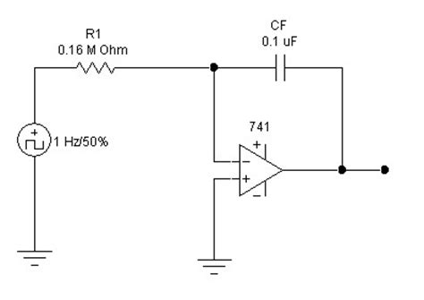 integrator circuit output voltage integrator using op 741 circuit electronic circuit schematic wiring diagram
