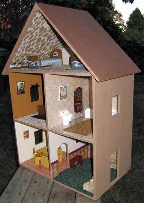 Dollhouse Decorating by Dollhouse Decorating A Completed Playable Lighted Wooden
