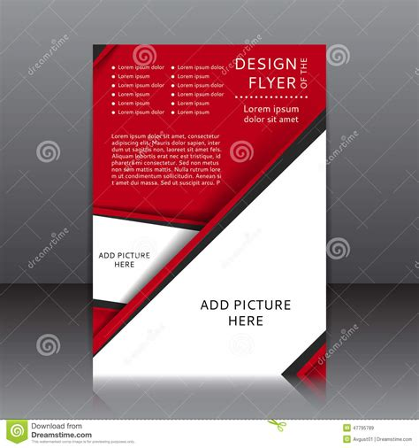 read poster template vector design of the flyer with black elements and