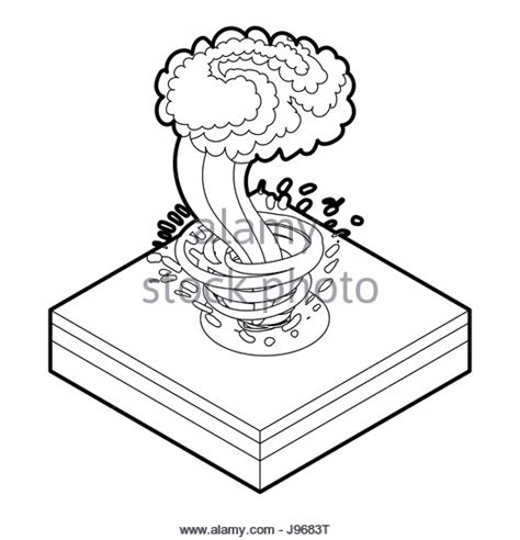 Realistic Tornado Drawing