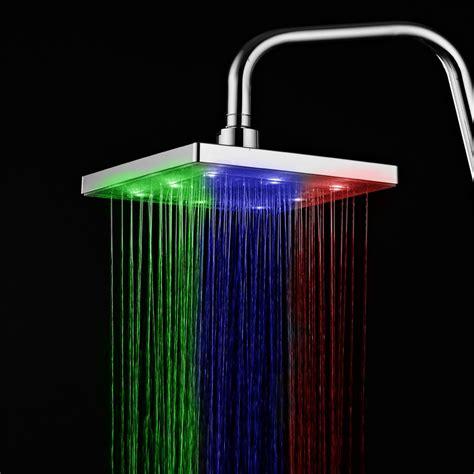 ducha shower led en colores venta al por mayor griferia duchas cuadradas compre
