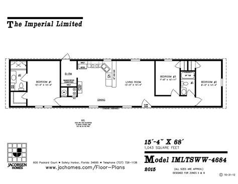 imlt 46412b mobile home floor plan ocala custom homes imlt 4684 mobile home floor plan ocala custom homes