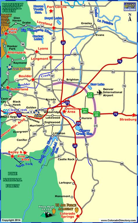 denver co map denver map tourist attractions travelsfinders