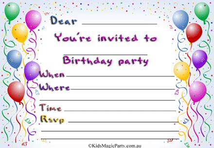 free printable birthday invitations 12 year olds free printable birthday party invitations theruntime com