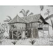 Gambar Rumah Kartun Tanpa Warna Lukisan