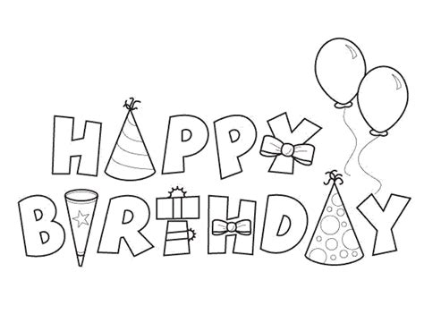 coloring book happy birthday free letter a for birthday coloring pages