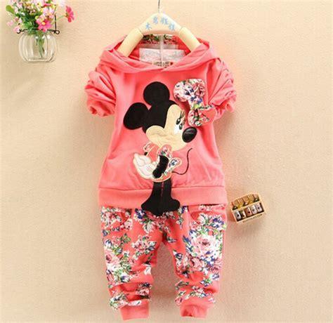 Set Minnie Denim Kid bibicola baby clothing set minnie mouse suit 2pcs children casual sport suit