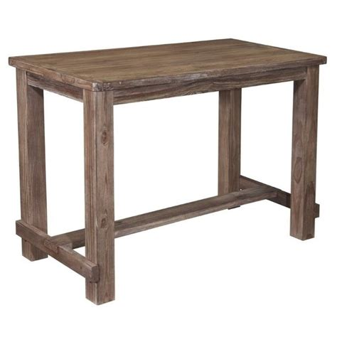 bar height pub table pinnadel bar height dining table in light brown