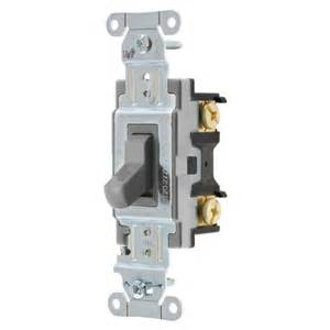 hubbell light switch shop hubbell 15 20 3 way gray indoor toggle light