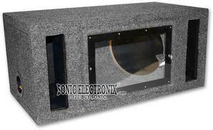 sonic  boxes bv gray dual  vented bandpass mdf enclosure