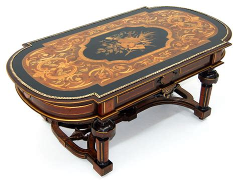 renaissance revival inlaid antique coffee table 913 ebay