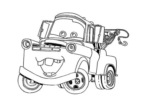 9 lightning mcqueen and mater coloring pages mater saves