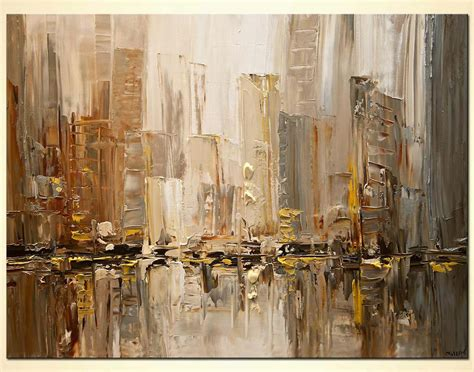 painting  sale original contemporary city abstract