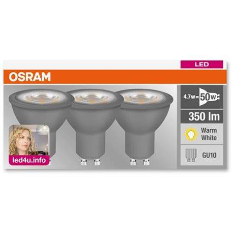 gu10 led light bulbs 50w osram led gu10 light bulb 4 7w 50w 3 pack led