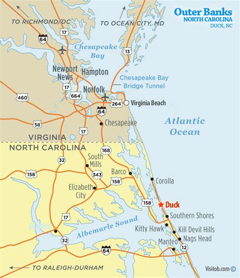 map of carolina duck map of duck nc visit outer banks obx vacation guide