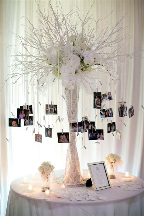 26 creative diy photo display wedding decor ideas tree centerpieces wedding trees and diy wedding