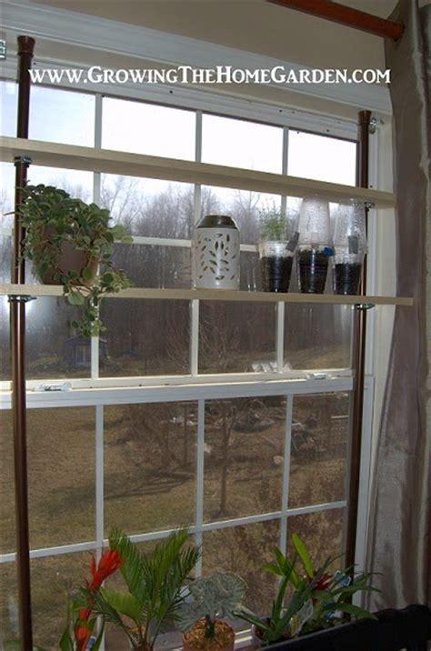 window plant shelves a window garden with shelves growing the home garden