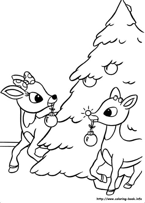 rudolph reindeer coloring pages getcoloringpages com