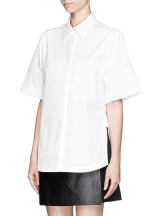 Cotton Boxy Shirt proenza schouler cotton boxy shirt