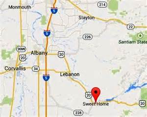sweet home oregon map sweet home dies while trimming a tree salem news