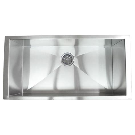 Stainless Steel Kitchen Sinks Undermount Reviews 36 Inch Stainless Steel Undermount Single Bowl Kitchen Sink Zero Radius Design