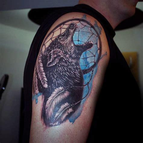tattoo dreamcatcher wolf howling wolf dreamcatcher tattoo www pixshark com
