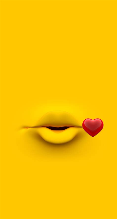 emoji kiss wallpaper arkaplan wallpaper funny