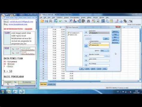 tutorial uji validitas dan reliabilitas dengan spss pdf uji heteroskedastisitas glejser dengan spss 21 youtube