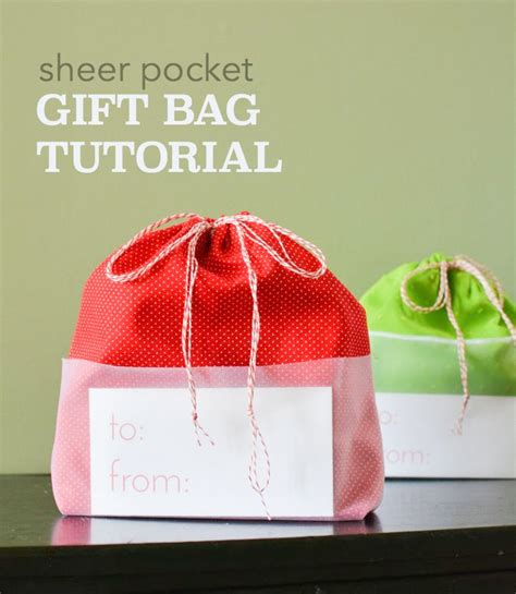 how to sew a sheer pocket drawstring gift bag crafterhours