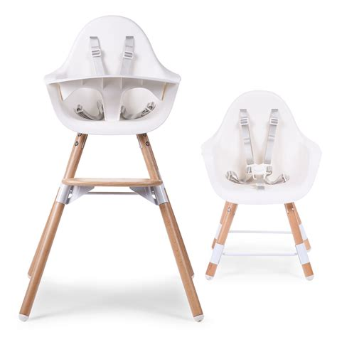 chaise haute oeuf great chaise haute evolu en bois blanc childwood with