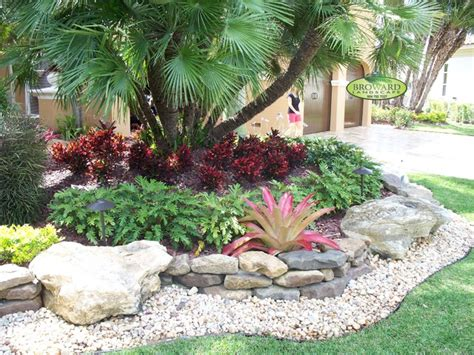 Tropical Front Garden Ideas Front Yard Landscape Tropical Landscape Miami By
