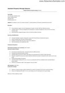 Sample Resume Assistant Manager assistant property manager resume