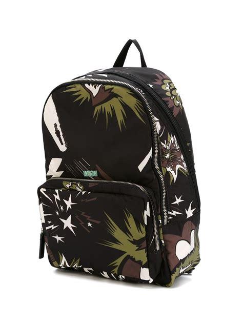Bag Motif Garis Ps lyst msgm motif backpack in black for