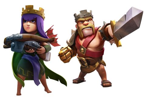Clash Of Clans King barbarian king and archer clash of clans wallpaper
