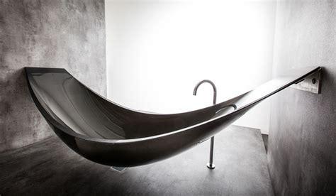 Carbon Fiber Bathtub by A Hammock Shaped Carbon Fibre Bathtub By Splinter Works