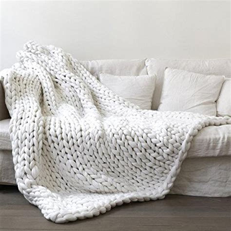 thick knitted blanket white chunky knit blanket chunky blanket knit
