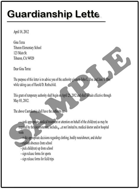 temporary custody letter template custody letter template beautiful template design ideas