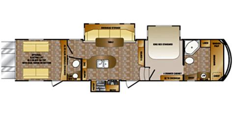 crossroads rv floor plans 2015 crossroads rv elevation tf 38td talladega floorplan