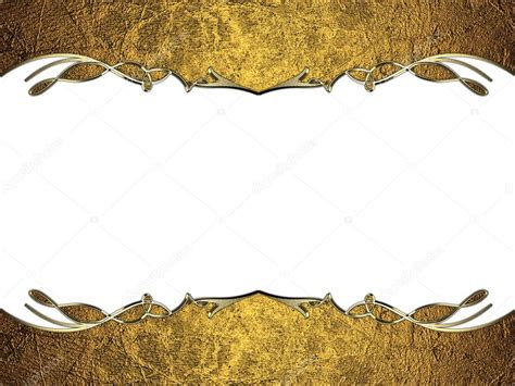 gold and white background gold frame with gold edges and a pattern on a white