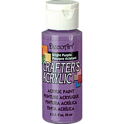 bright purple decoart 174 crafter s acrylic paint basic bright purple craft paint
